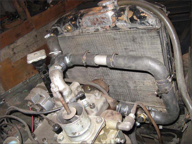 """Газ-69  """"Сусанин """" - Установка термостата от  """"Нивы """" ВАЗ-21213 на Газ-69 - Фотография."""