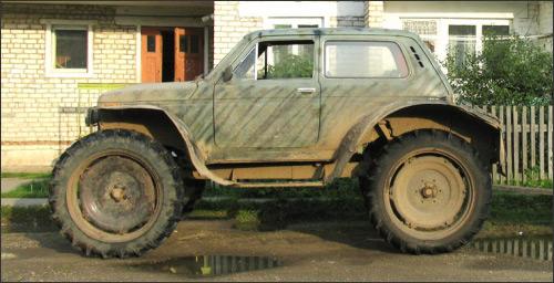 Нивы на тракторных колесах