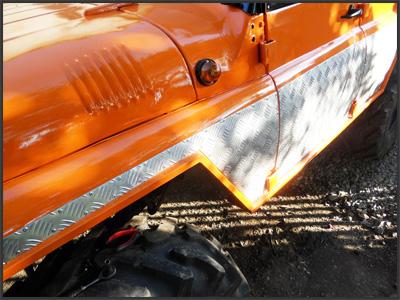 Тюнинг УАЗ-469: Обшивка рифленым алюминием