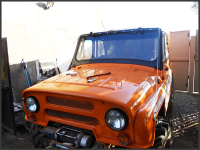 Тюнинг УАЗ-469: Веткоотбойники
