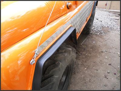 Тюнинг УАЗ-469: Расширение колесных арок
