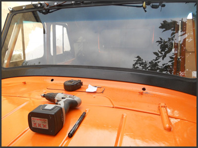 Тюнинг УАЗ-469: Установка нижних дворников